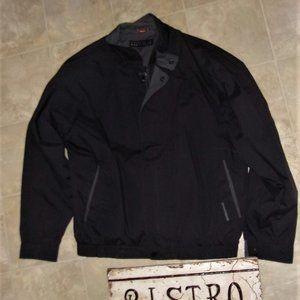 Perry ellis Mens size  large jacket coat gray black light weight